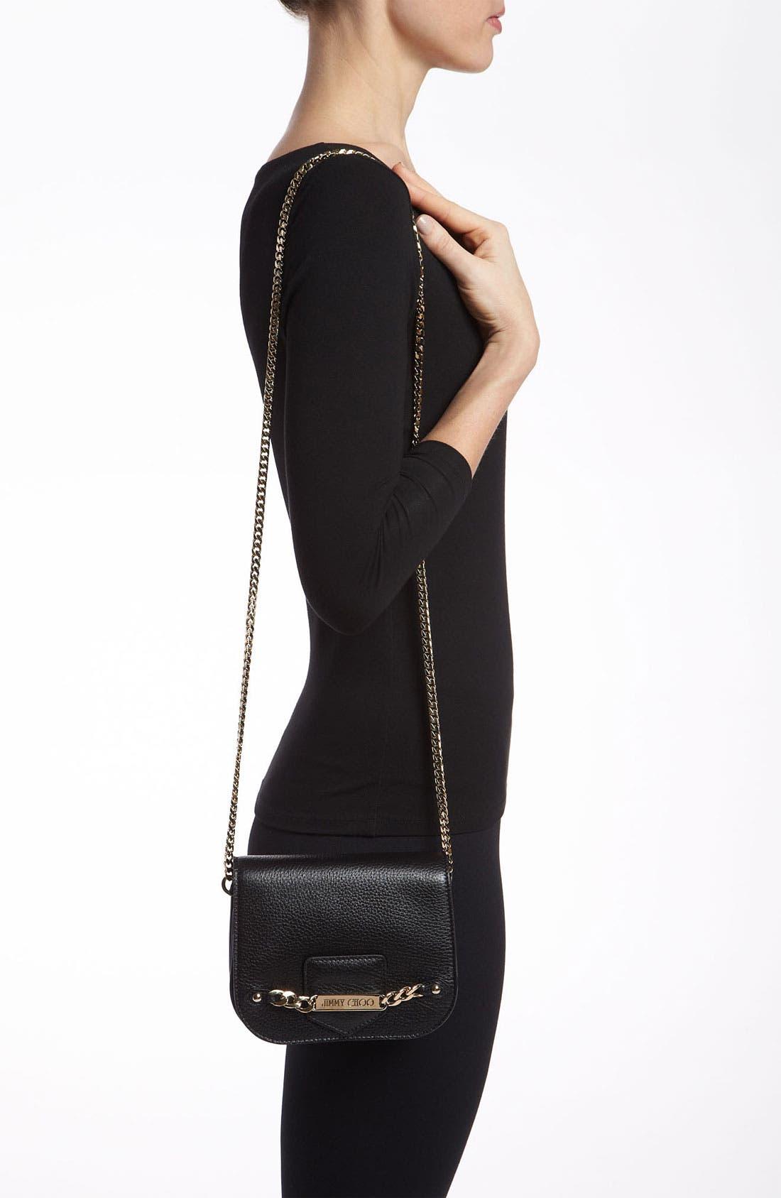 Alternate Image 2  - Jimmy Choo 'Shadow' Pearlized Leather Crossbody Bag