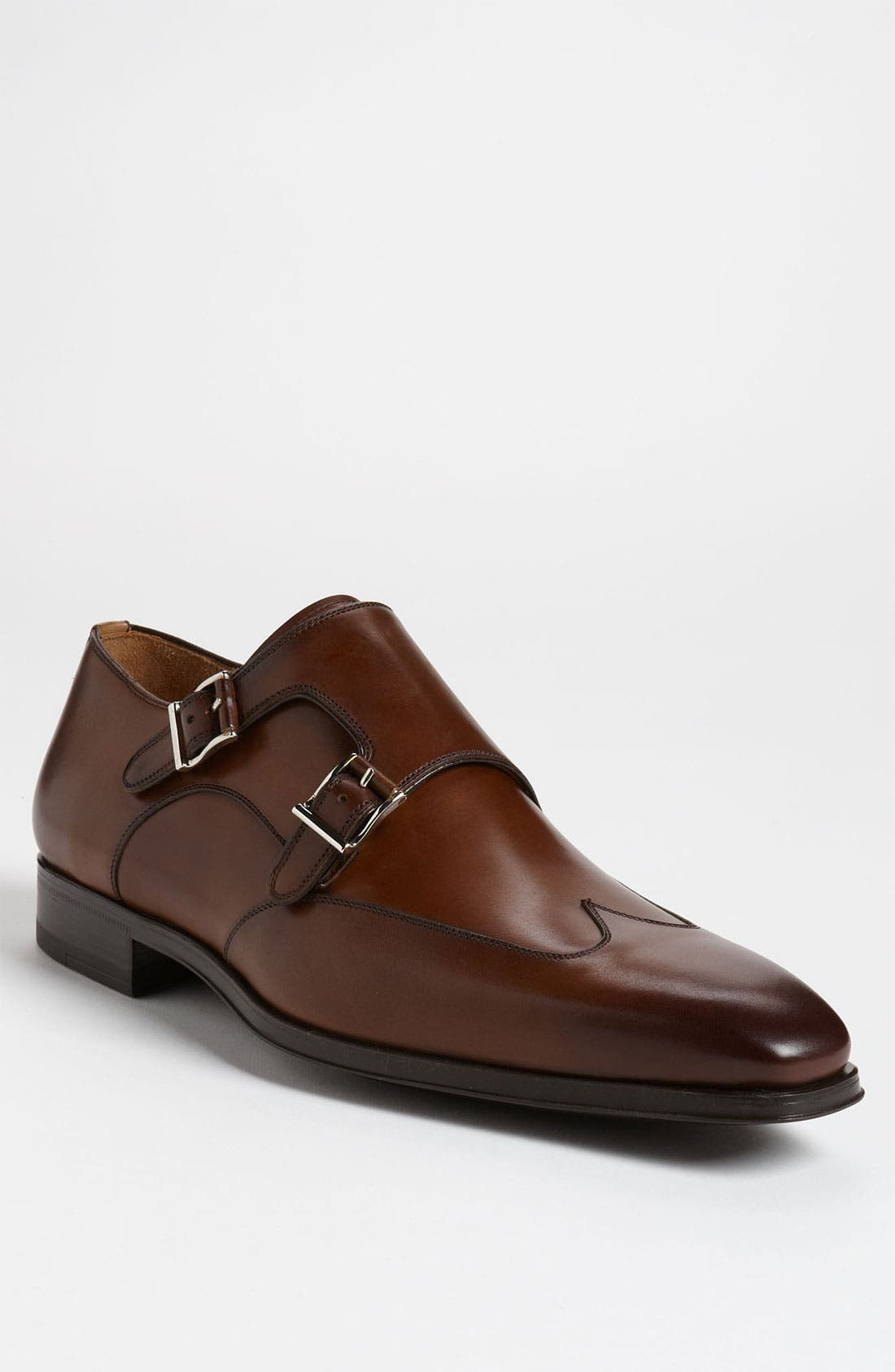 Main Image - Magnanni 'Claudio' Double Monk Strap Wingtip Slip-On