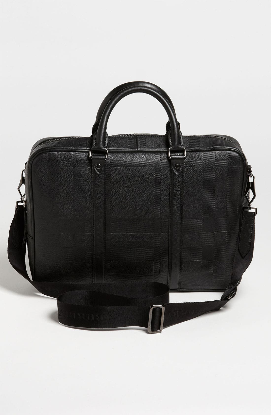 Alternate Image 4  - Burberry 'Maxwell' Check Embossed Leather Briefcase