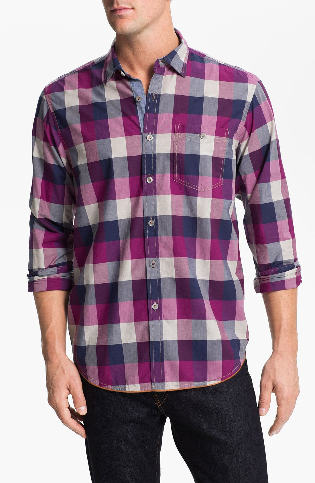 Alternate Image 1 Selected - Tommy Bahama Denim 'Harbour Check' Sport Shirt