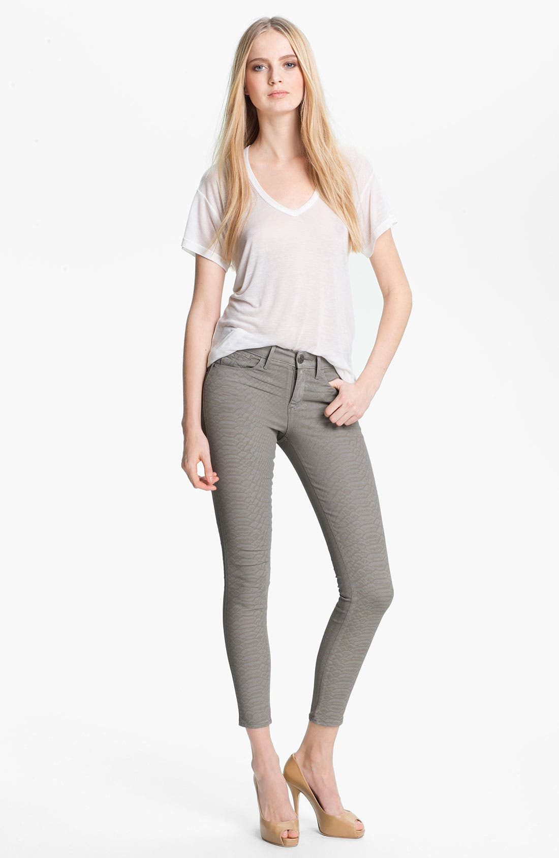Alternate Image 2  - Habitual 'Grace' Coated Print Skinny Jeans