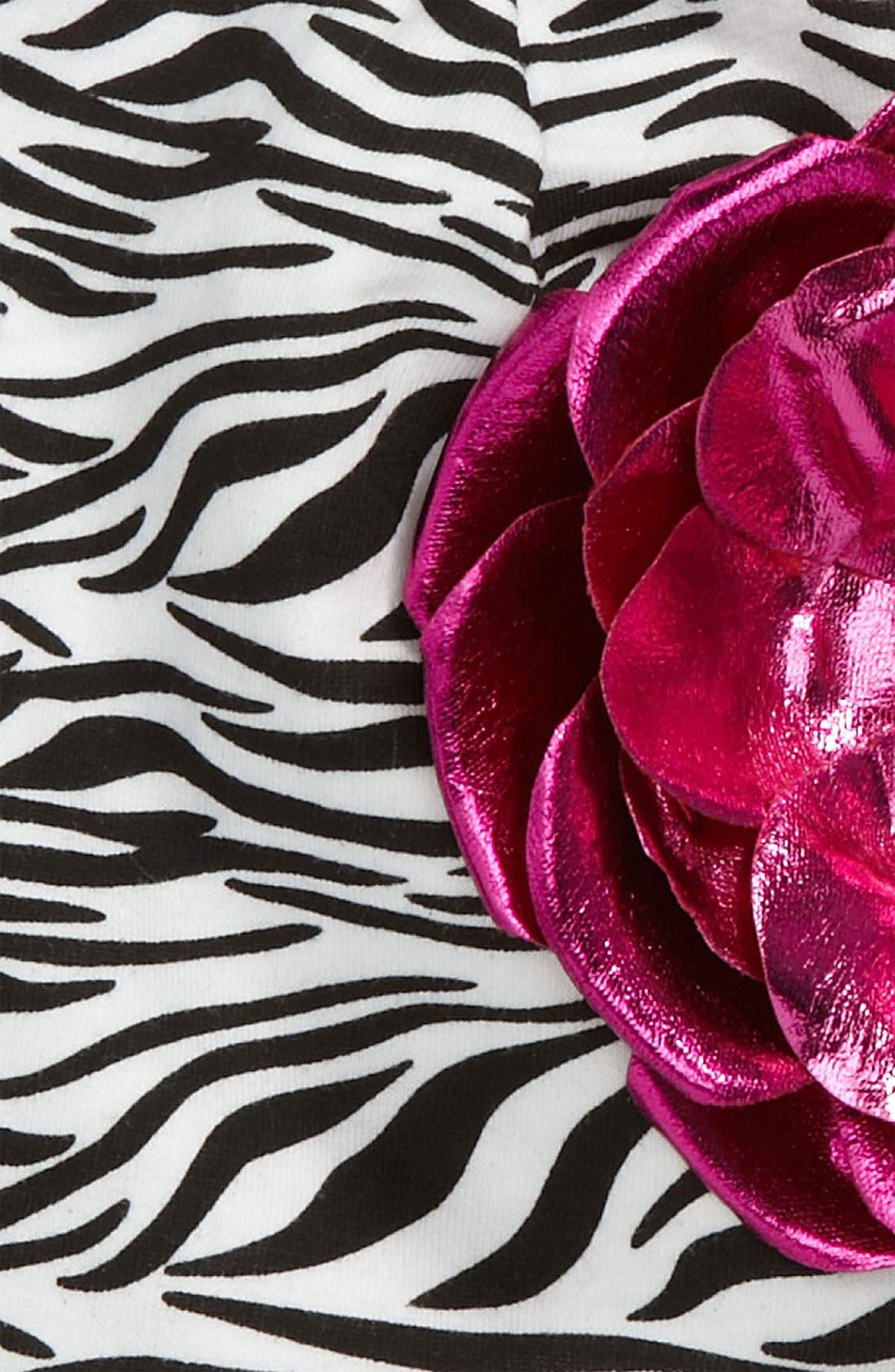 Alternate Image 2  - Jamie Rae Hats Zebra Print Hat (Toddler)
