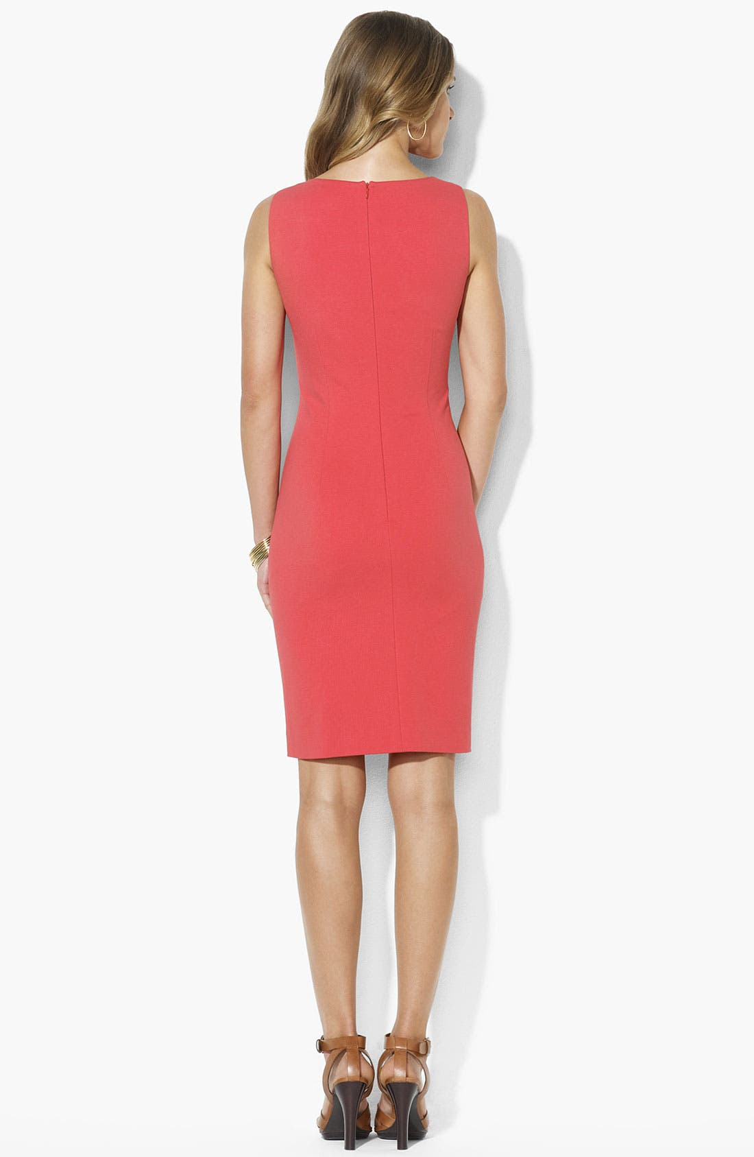 Alternate Image 2  - Lauren Ralph Lauren Ponte Knit Sheath Dress