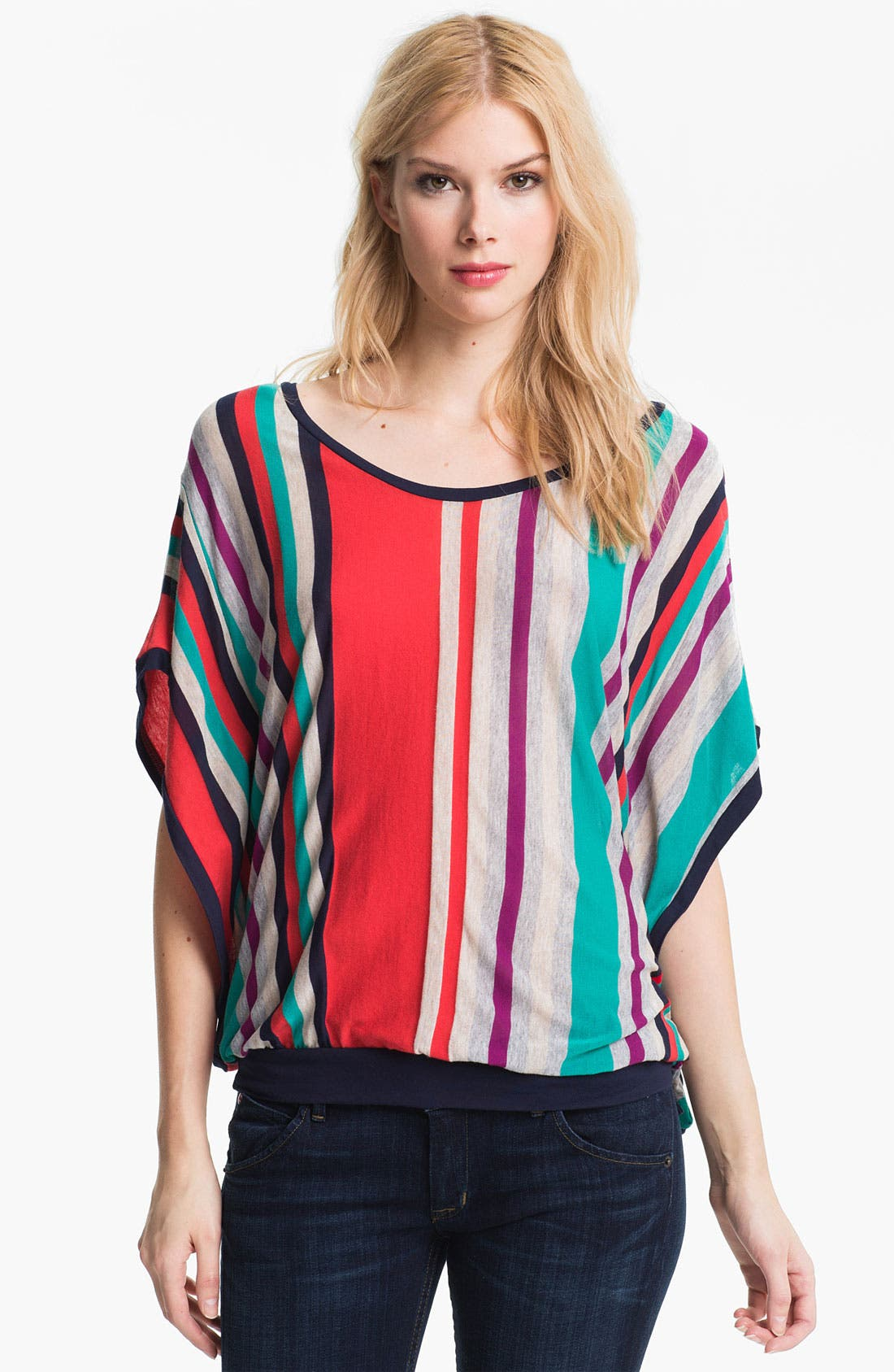 Alternate Image 1 Selected - Ella Moss 'Zoey' Stripe Top