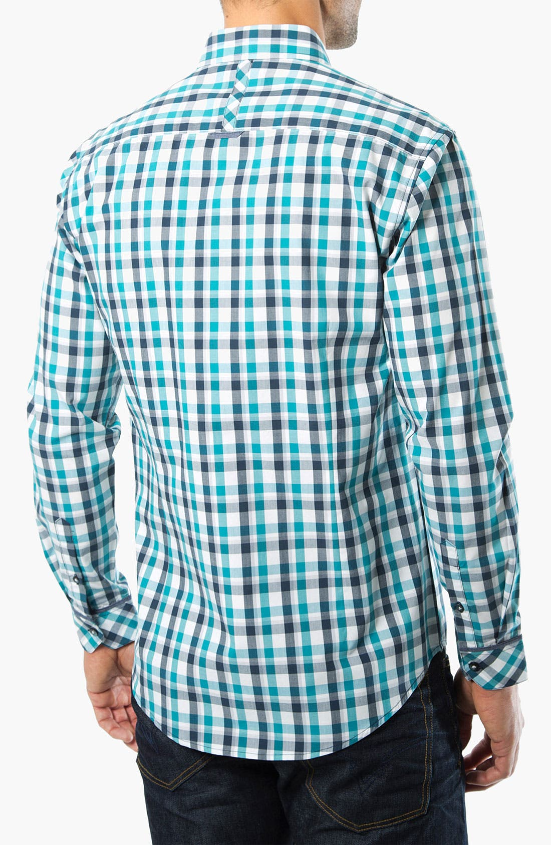 Alternate Image 2  - 7 Diamonds 'Beautiful Bliss' Check Trim Fit Cotton Sport Shirt