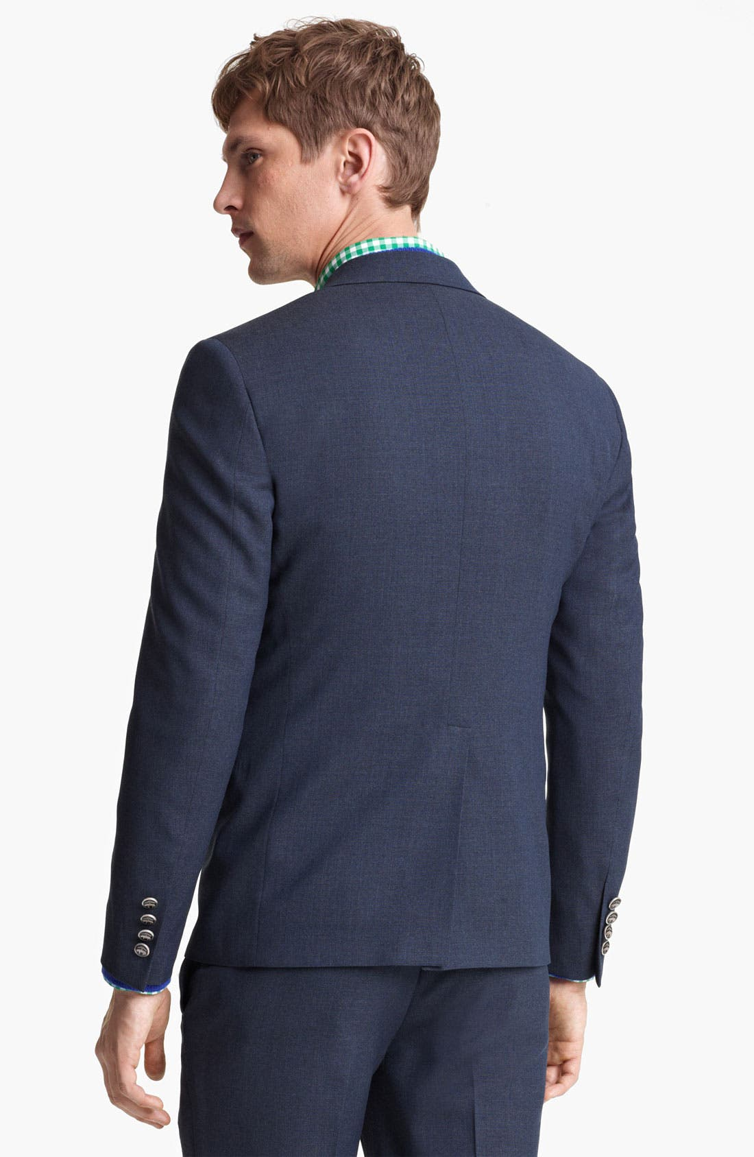 Alternate Image 2  - Brooks Brothers by Jeffrey Three Button Blazer