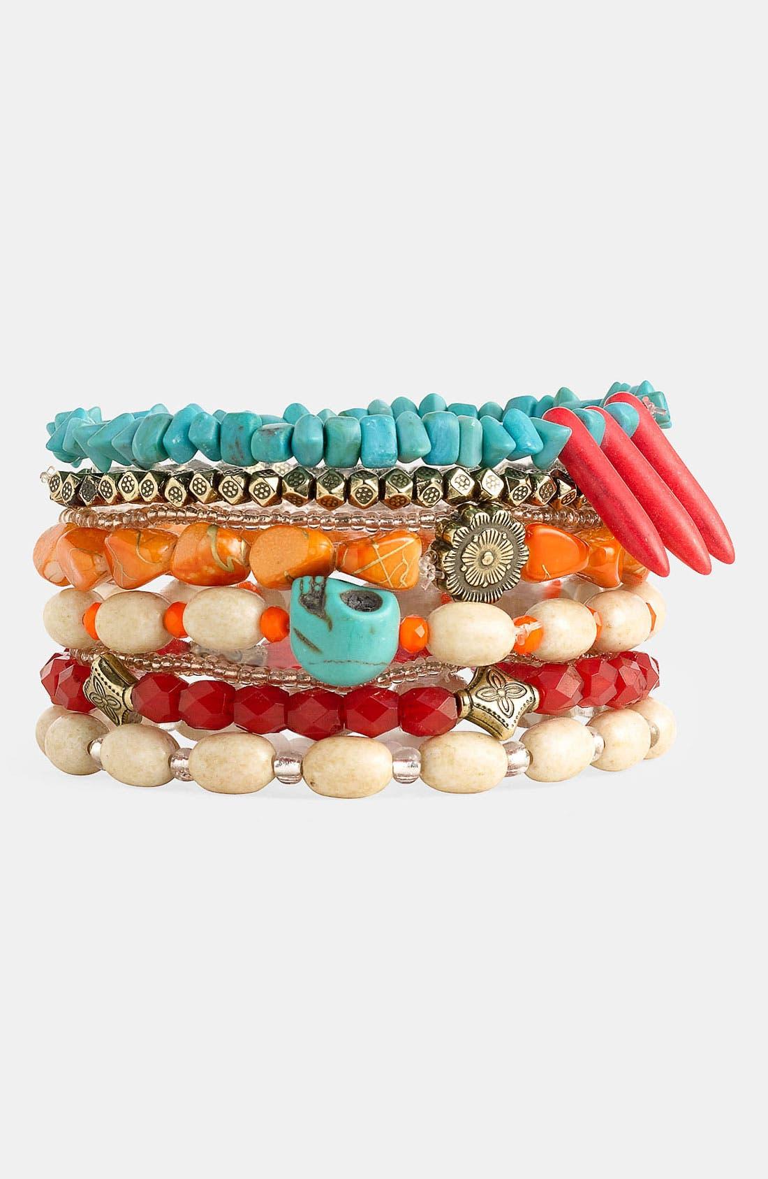 Alternate Image 1 Selected - Spring Street Design Group Stretch Bracelets (Set of 8) (Nordstrom Exclusive)