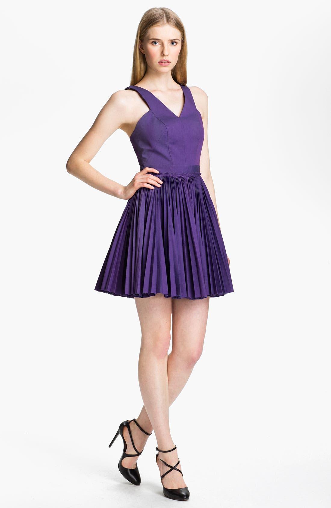 Main Image - Robert Rodriguez Cutout & Pleated Dress