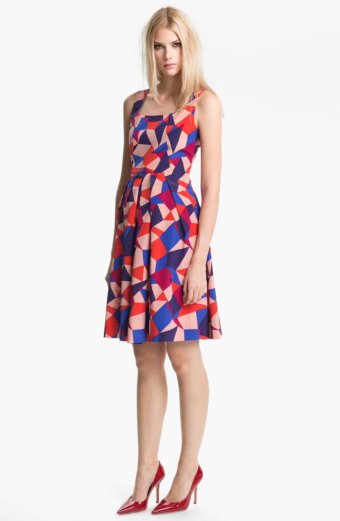 Alternate Image 1 Selected - MARC BY MARC JACOBS 'Taboo' Print Silk Blend Fit & Flare Dress