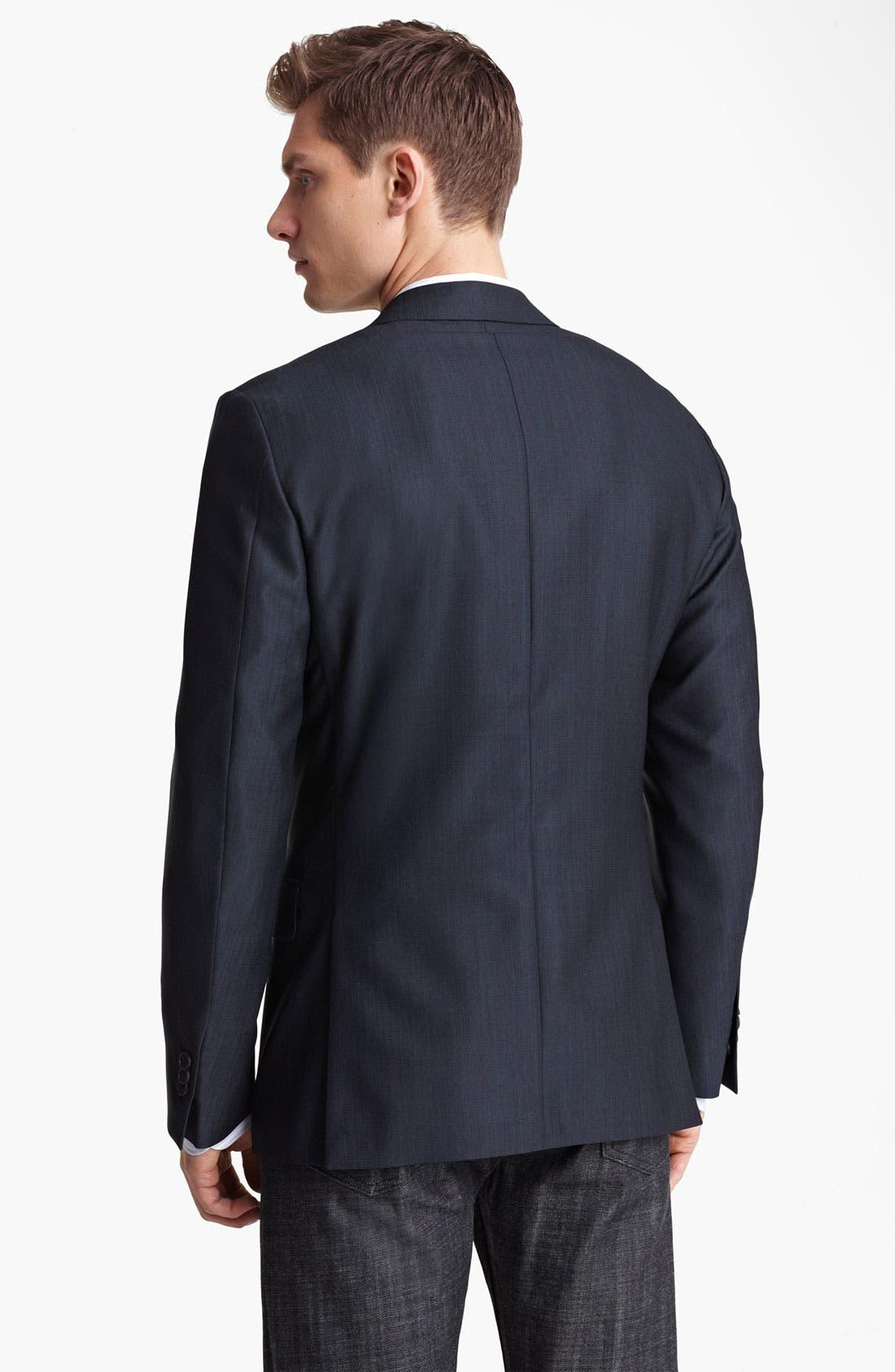 Alternate Image 2  - Z Zegna Trim Fit Wool Blend Blazer