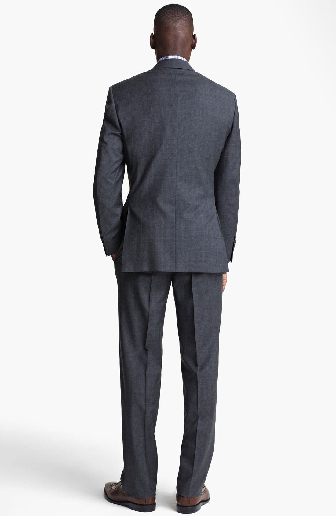 Alternate Image 3  - Canali Plaid Wool Suit