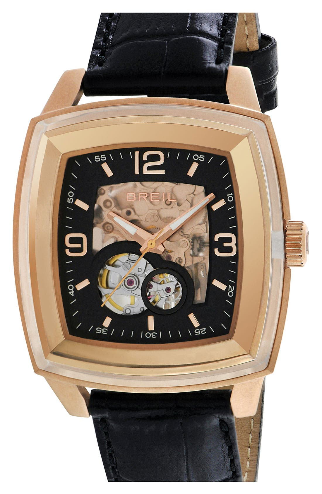 Alternate Image 1 Selected - Breil 'Orchestra' Square Automatic Watch, 42mm