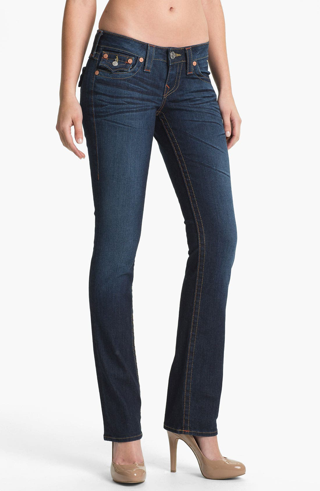 Alternate Image 1 Selected - True Religion Brand Jeans 'Billy' Straight Leg Stretch Jeans (Last Chance)
