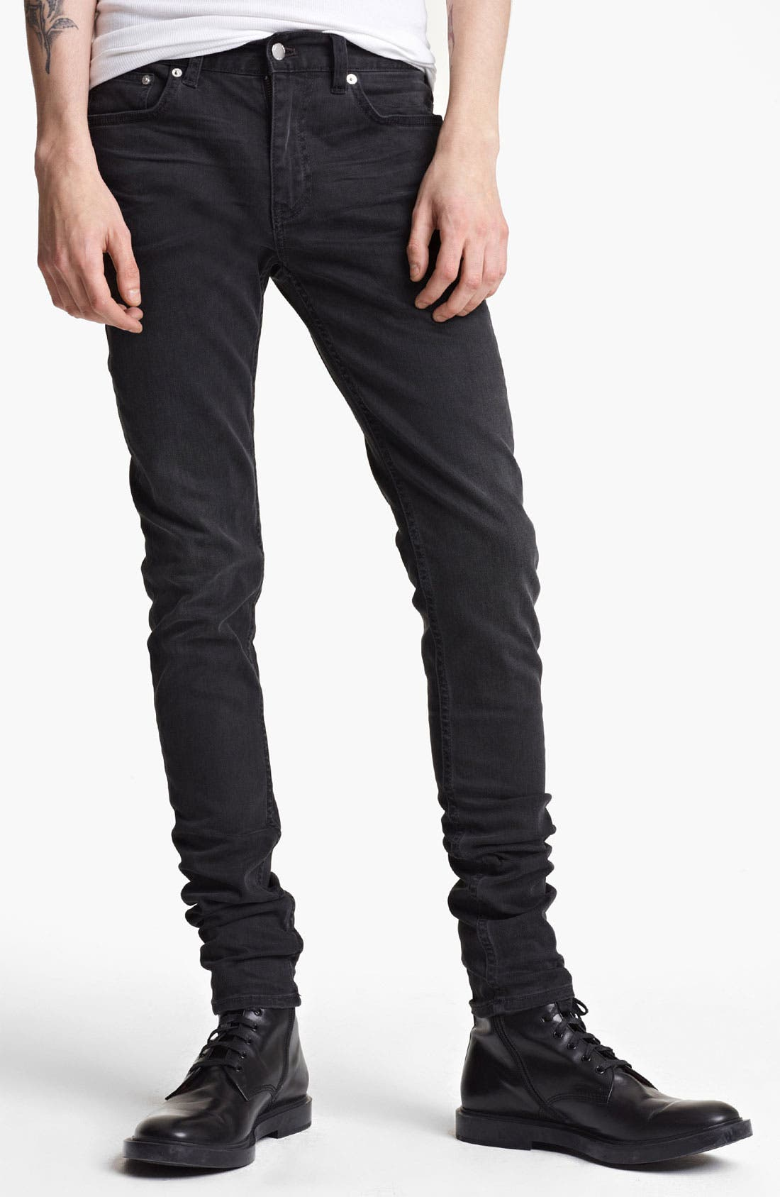 Alternate Image 1 Selected - BLK DNM 'Jeans 25' Slim Skinny Leg Jeans (Solid Black)