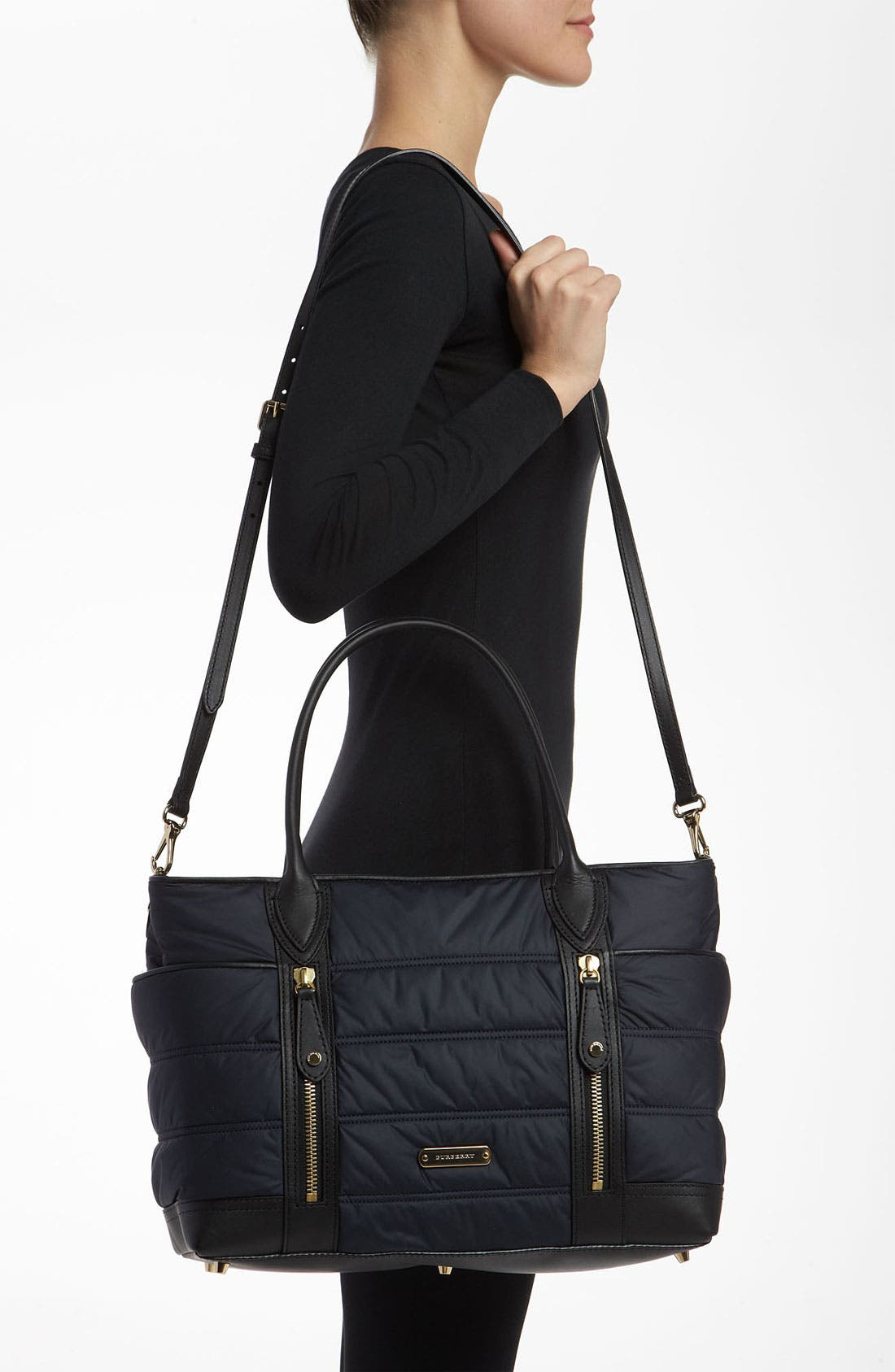 Alternate Image 2  - Burberry 'Olympia - Large' Quilted Diaper Bag