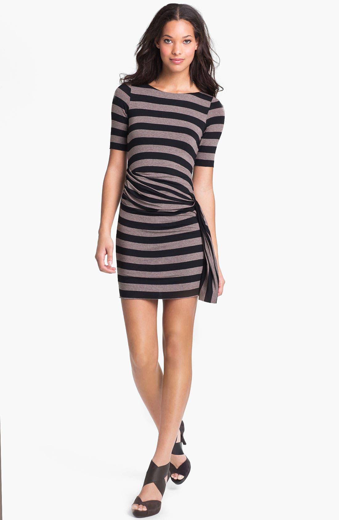 Alternate Image 1 Selected - Bailey 44 'Delphi' Drape Detail Stripe Dress