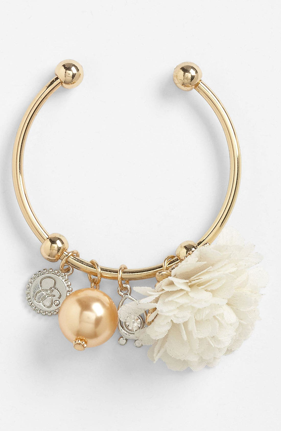 Alternate Image 1 Selected - Jessica Simpson Flower Bracelet