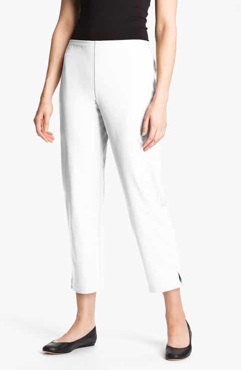 Eileen Fisher White Pants for Women: White, Black, Wool, Twill ...