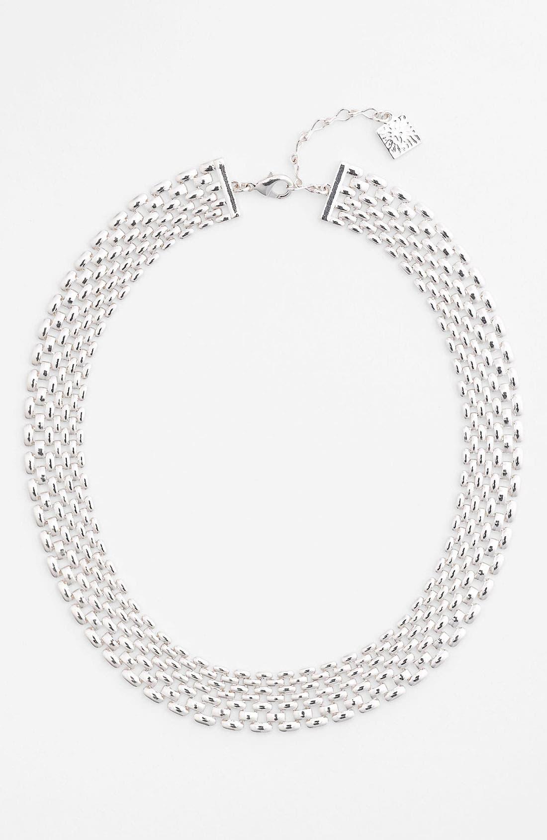 Main Image - Anne Klein Lattice Link Collar Necklace