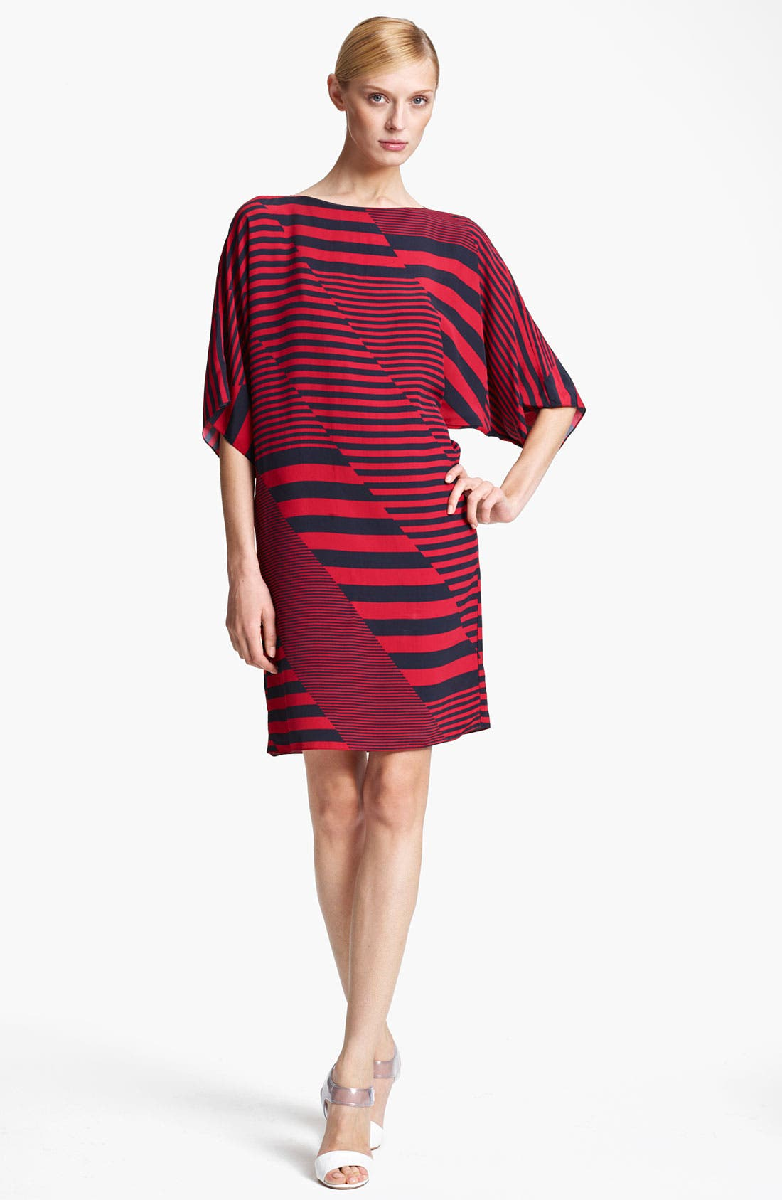 Alternate Image 1 Selected - Michael Kors Stripe Print Marocain Dress