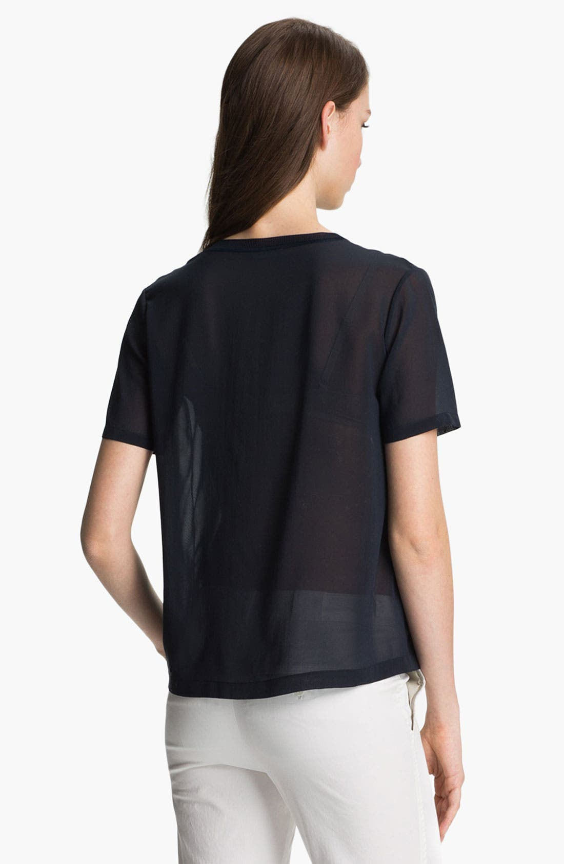 Alternate Image 2  - Vince Pocket Silk Tee
