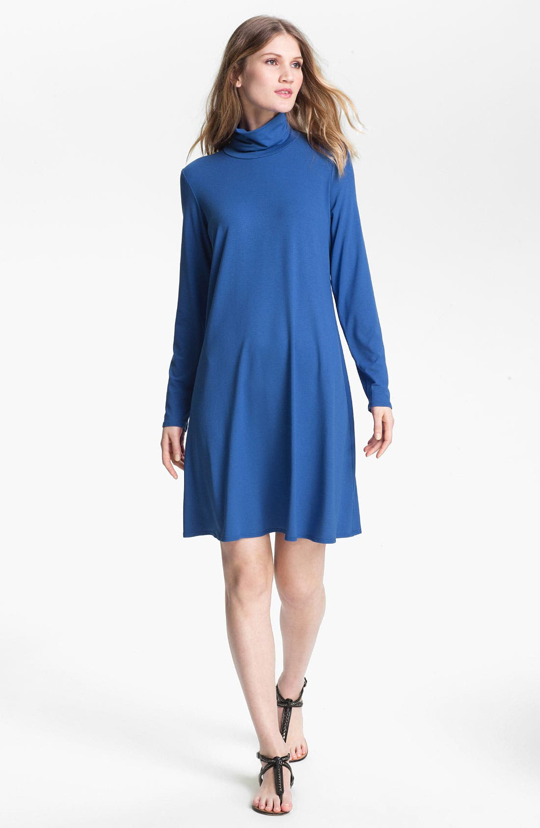 Alternate Image 1 Selected - Eileen Fisher Scrunch Neck Dress