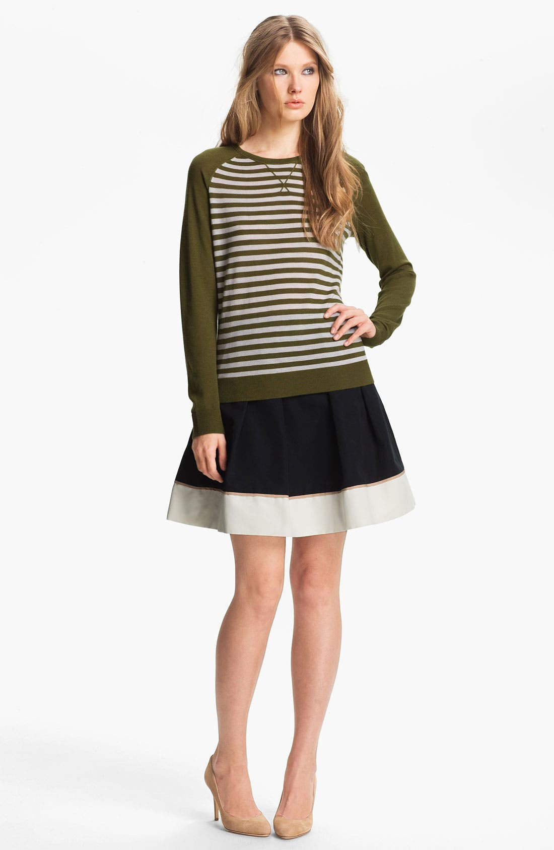 Alternate Image 4  - Miss Wu Hem Detail Faille Skirt (Nordstrom Exclusive)