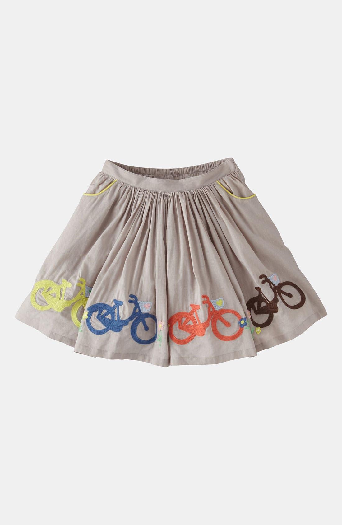Alternate Image 1 Selected - Mini Boden Embroidered Skirt (Little Girls & Big Girls)