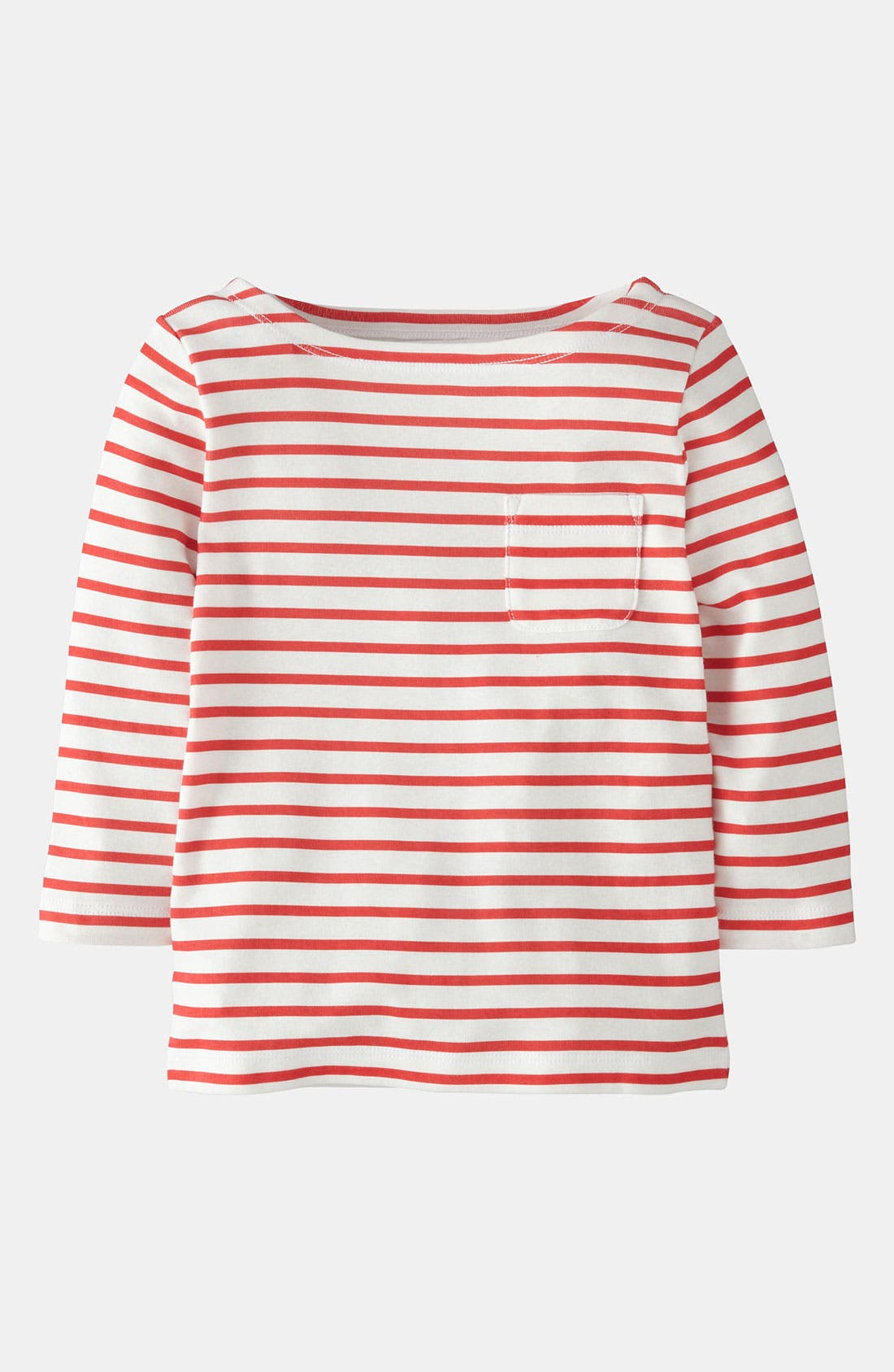 Alternate Image 1 Selected - Mini Boden 'Stripy' Boatneck Tee (Little Girls & Big Girls)