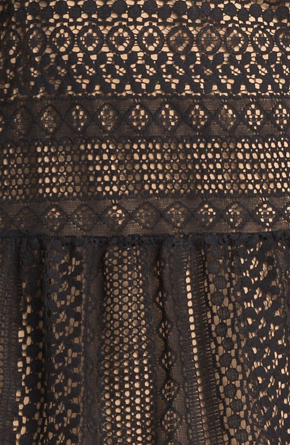 Alternate Image 3  - Lush Crochet Overlay Shift Dress (Juniors)