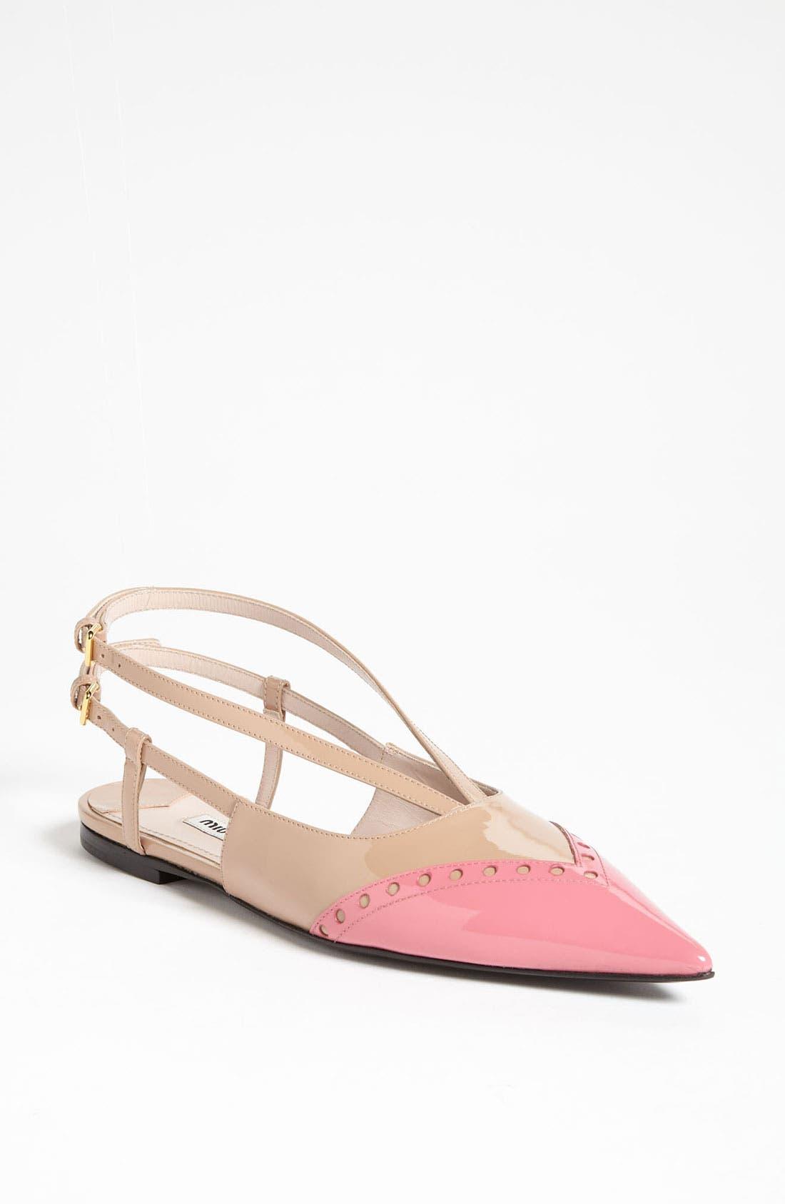 Alternate Image 1 Selected - Miu Miu Pointed Toe Ballet Flat