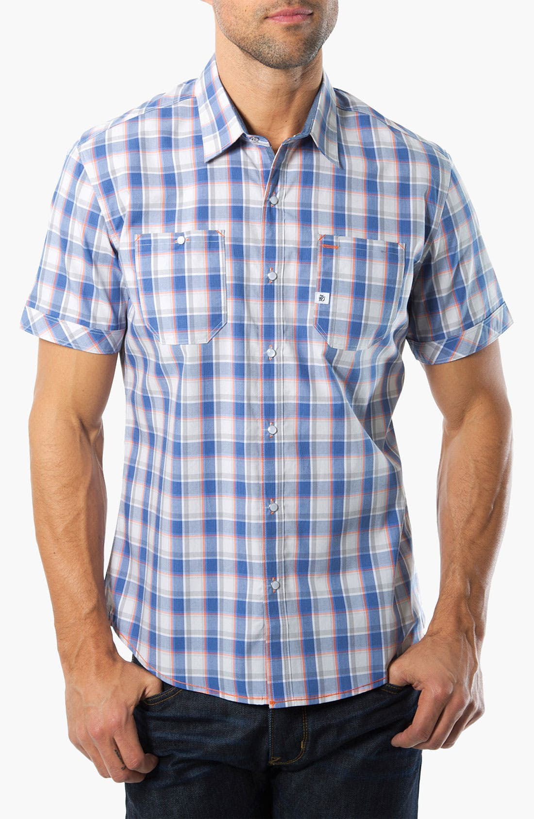 Alternate Image 1 Selected - 7 Diamonds 'Always Like This' Plaid Woven Shirt