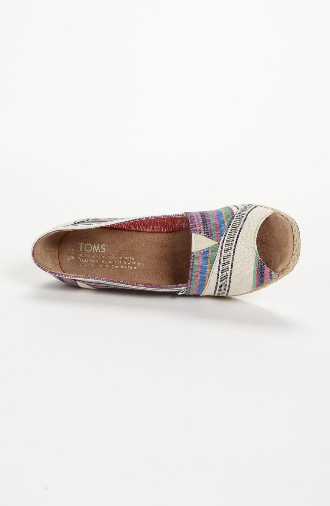 Alternate Image 3  - TOMS 'Village Stripe' Wedge