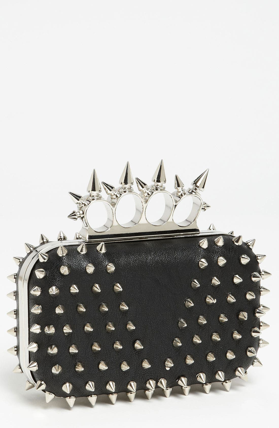 Main Image - Natasha Couture 'Small' Spiked Clutch