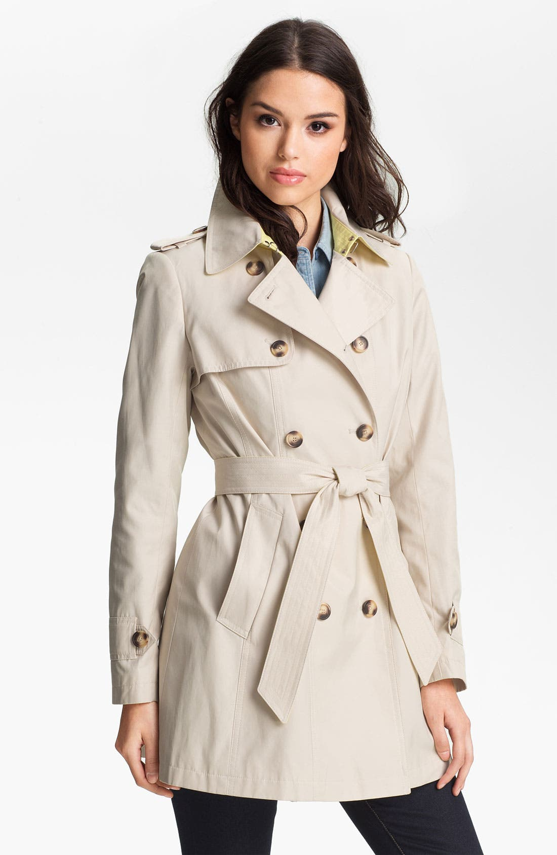 Alternate Image 1 Selected - DKNY Pleat Back Trench Coat