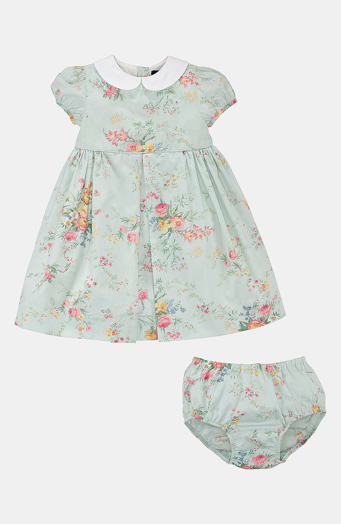 Alternate Image 2  - Ralph Lauren Floral Dress & Bloomers (Infant)