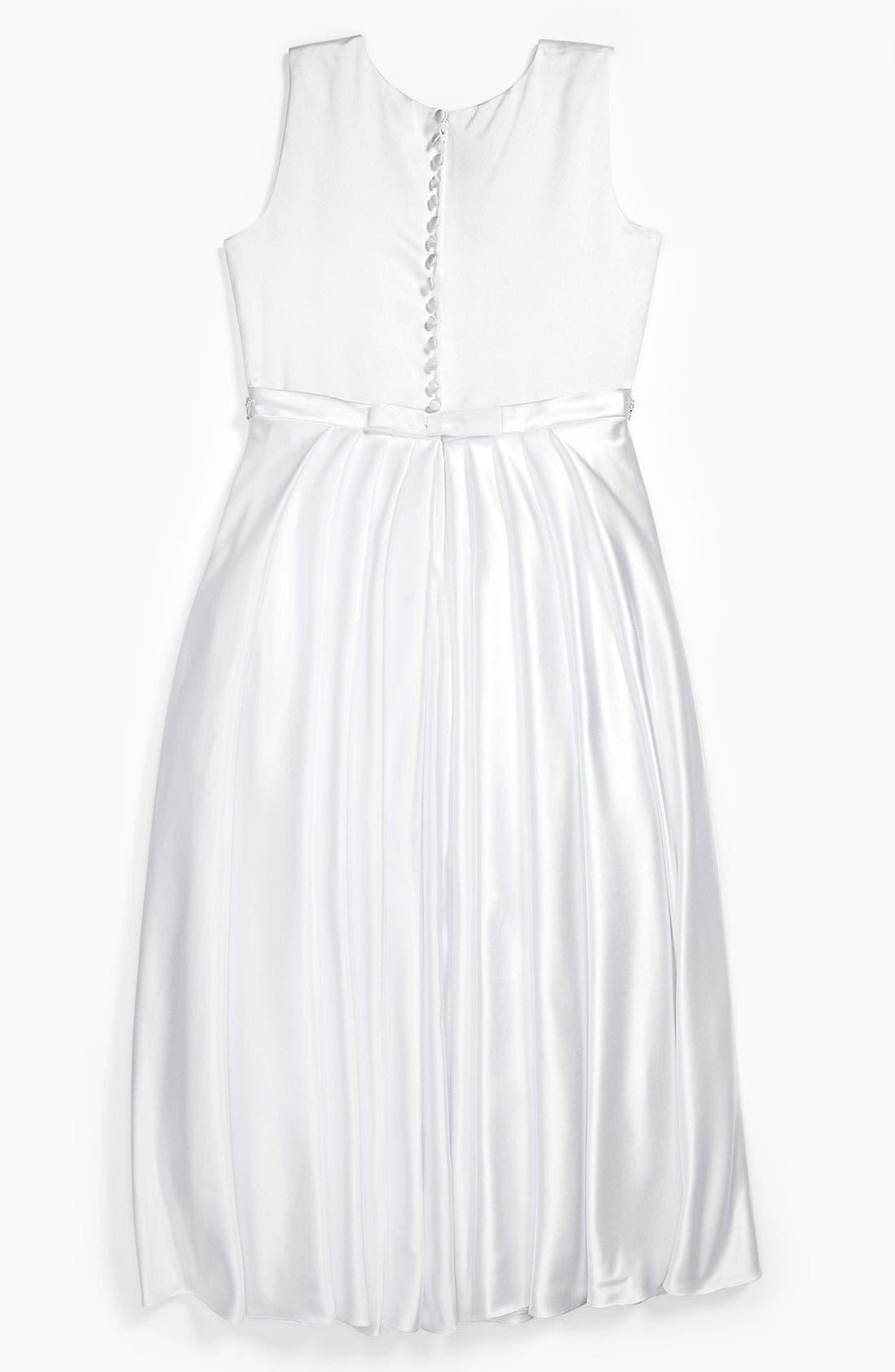 Alternate Image 3  - Joan Calabrese for Mon Cheri Jeweled Waist Dress (Little Girls & Big Girls)