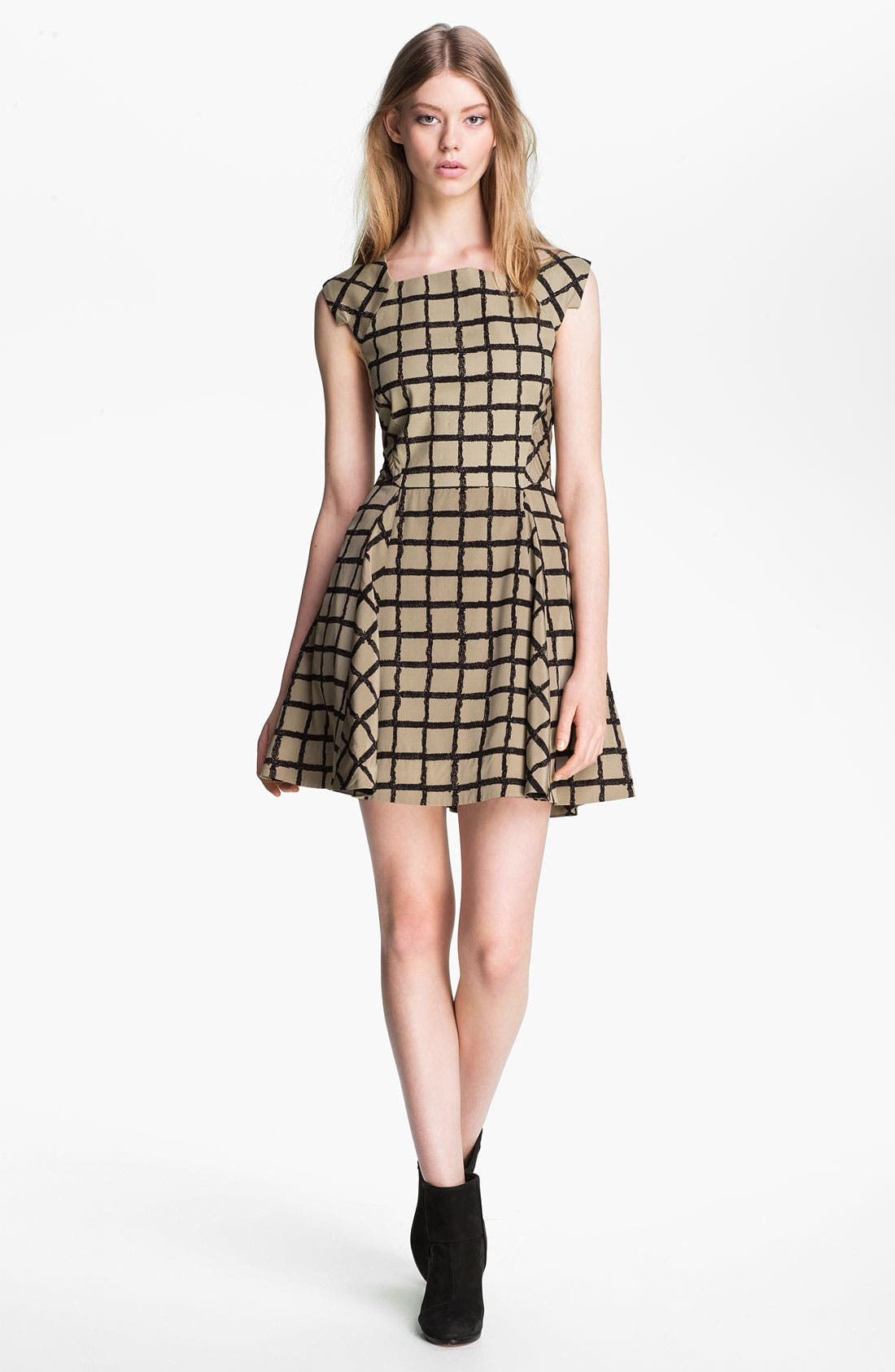 Main Image - rag & bone 'Lorie' Windowpane Dress