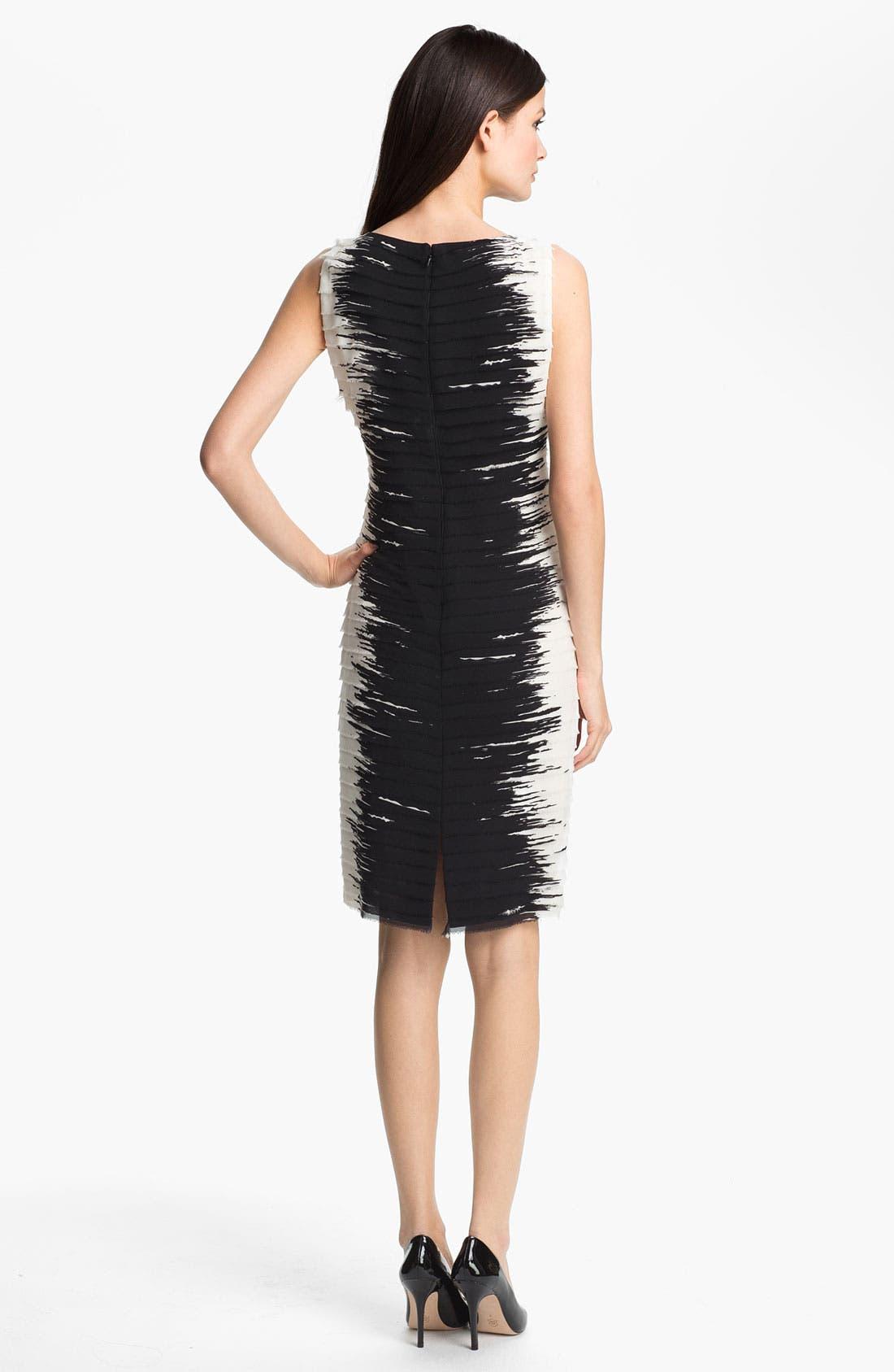 Alternate Image 2  - Lafayette 148 New York 'Faith' Silk Georgette Sheath Dress