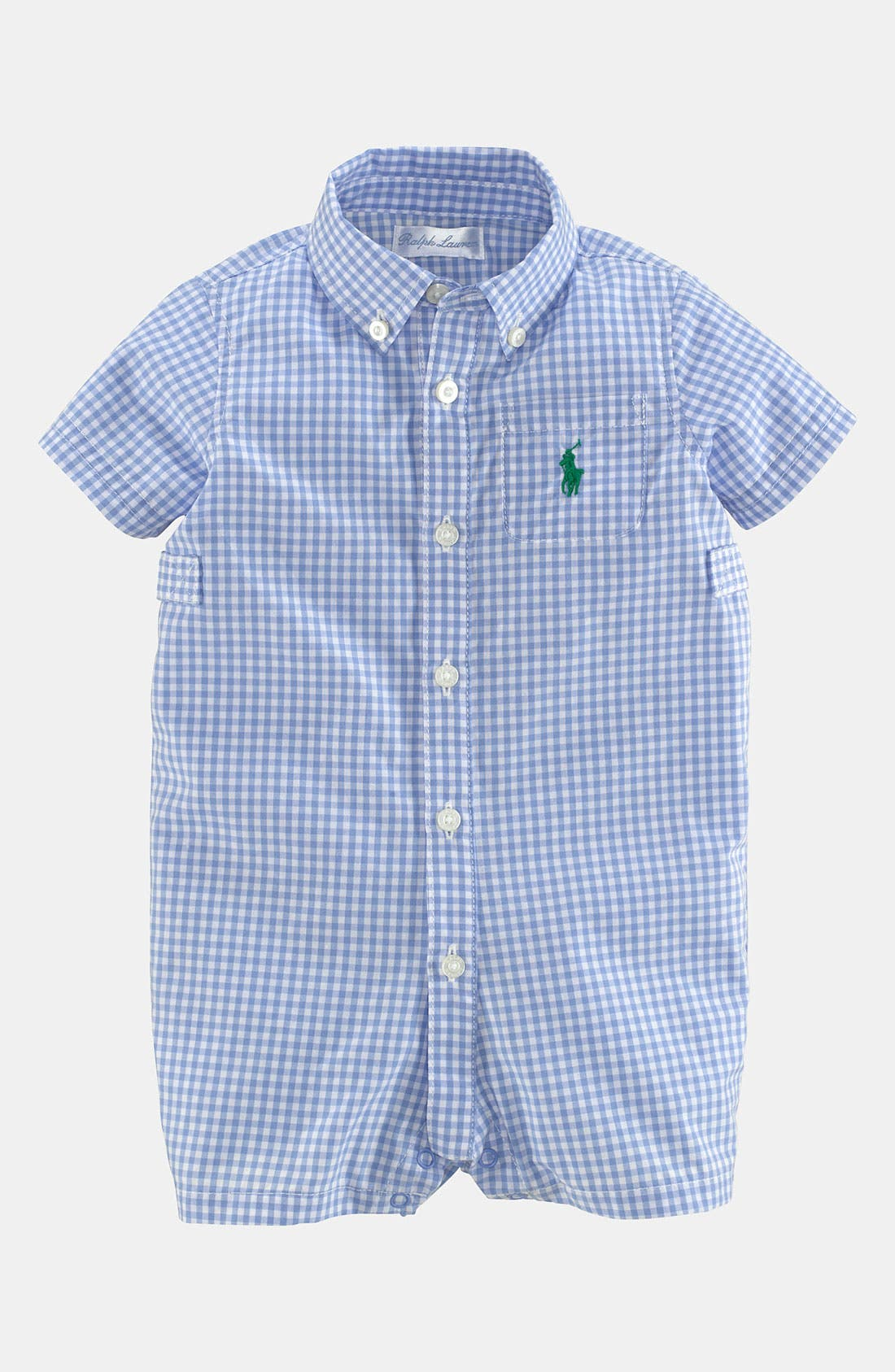 Alternate Image 1 Selected - Ralph Lauren Gingham Romper (Baby)