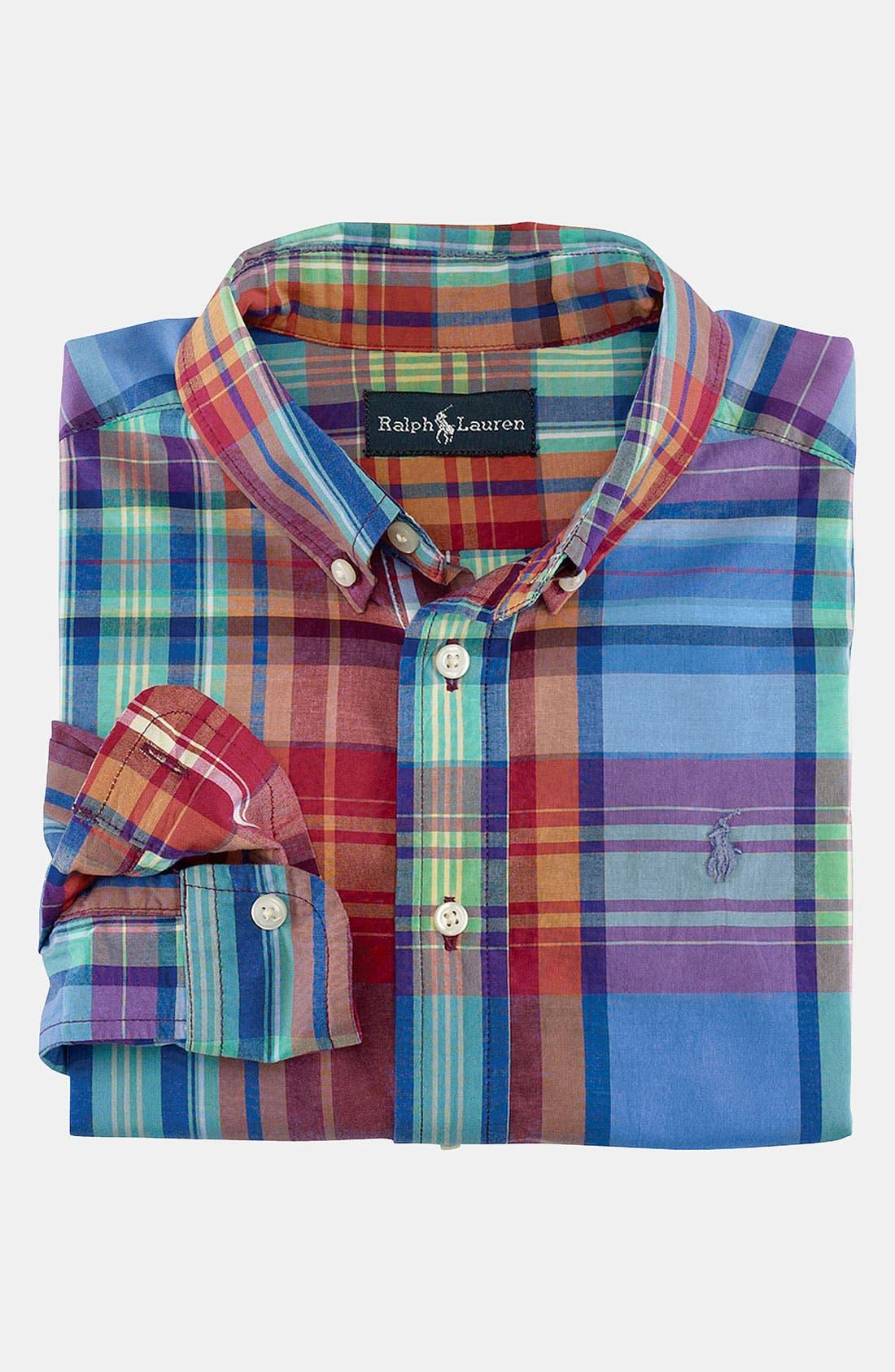 Alternate Image 1 Selected - Ralph Lauren Plaid Shirt (Toddler)