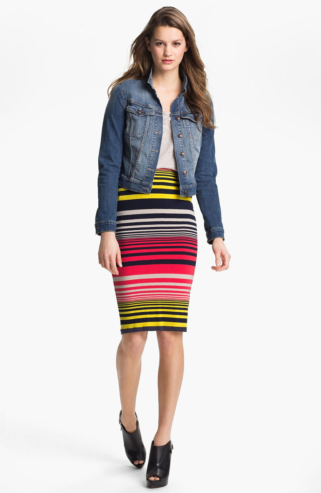 Alternate Image 2  - Three Dots Stripe Tube Skirt