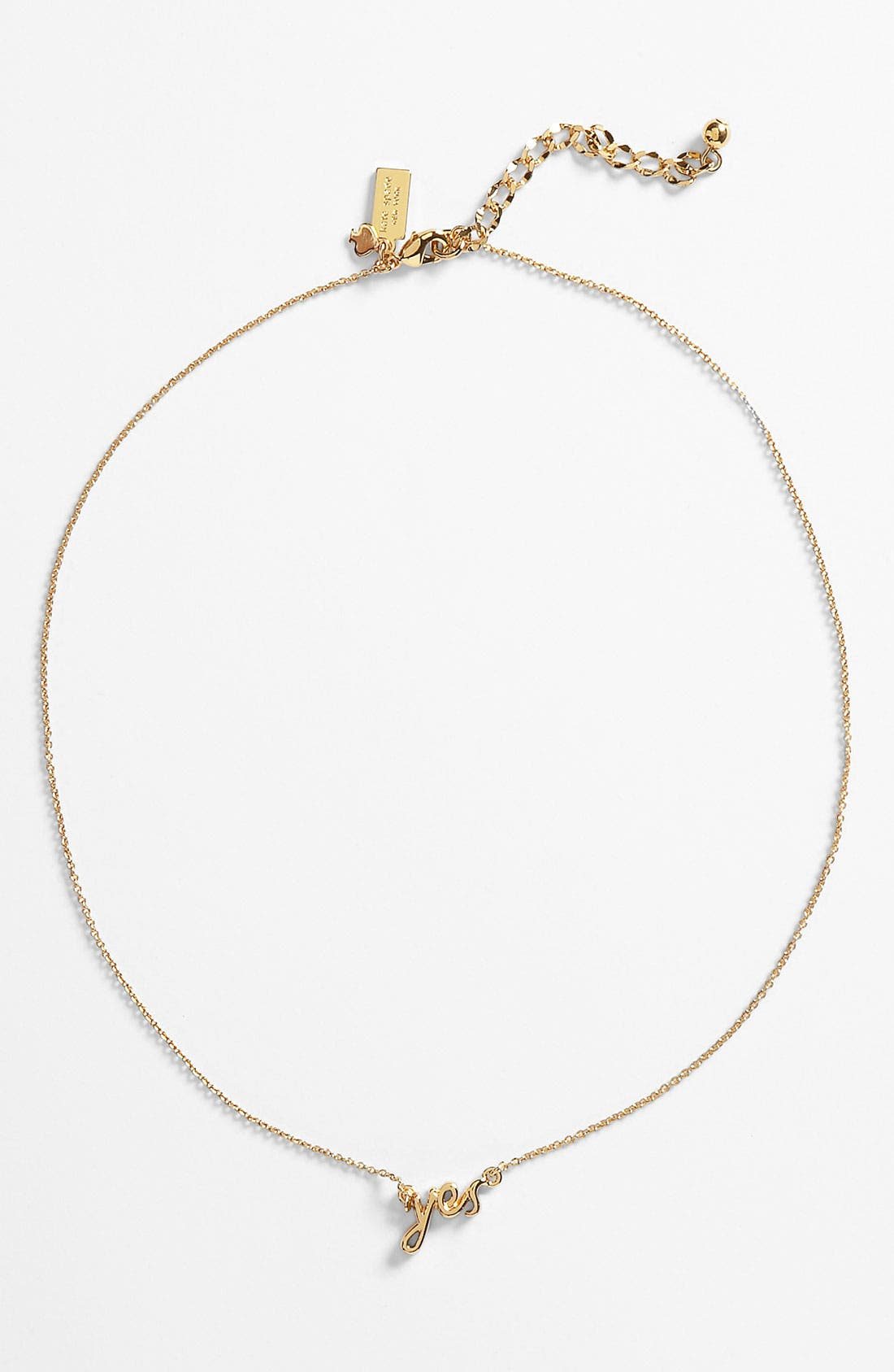 Alternate Image 2  - kate spade new york 'say yes' pendant necklace