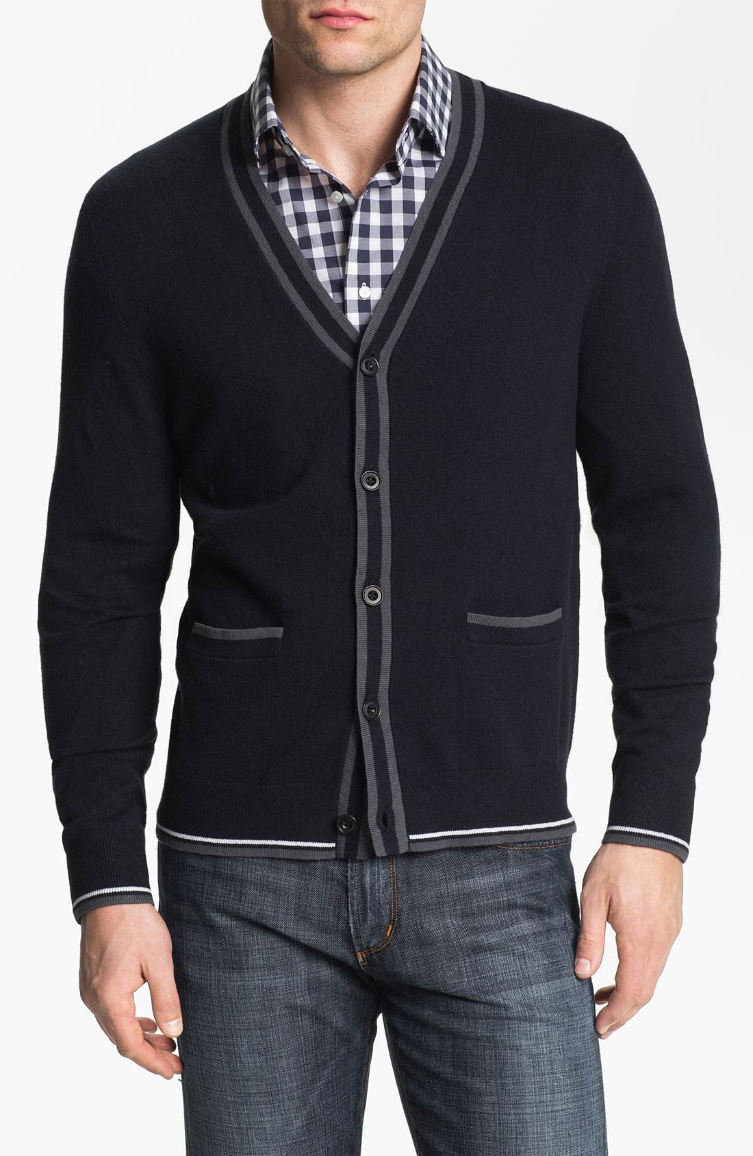 Alternate Image 1 Selected - Calibrate 'Demuth' Cashmere Blend Button Cardigan