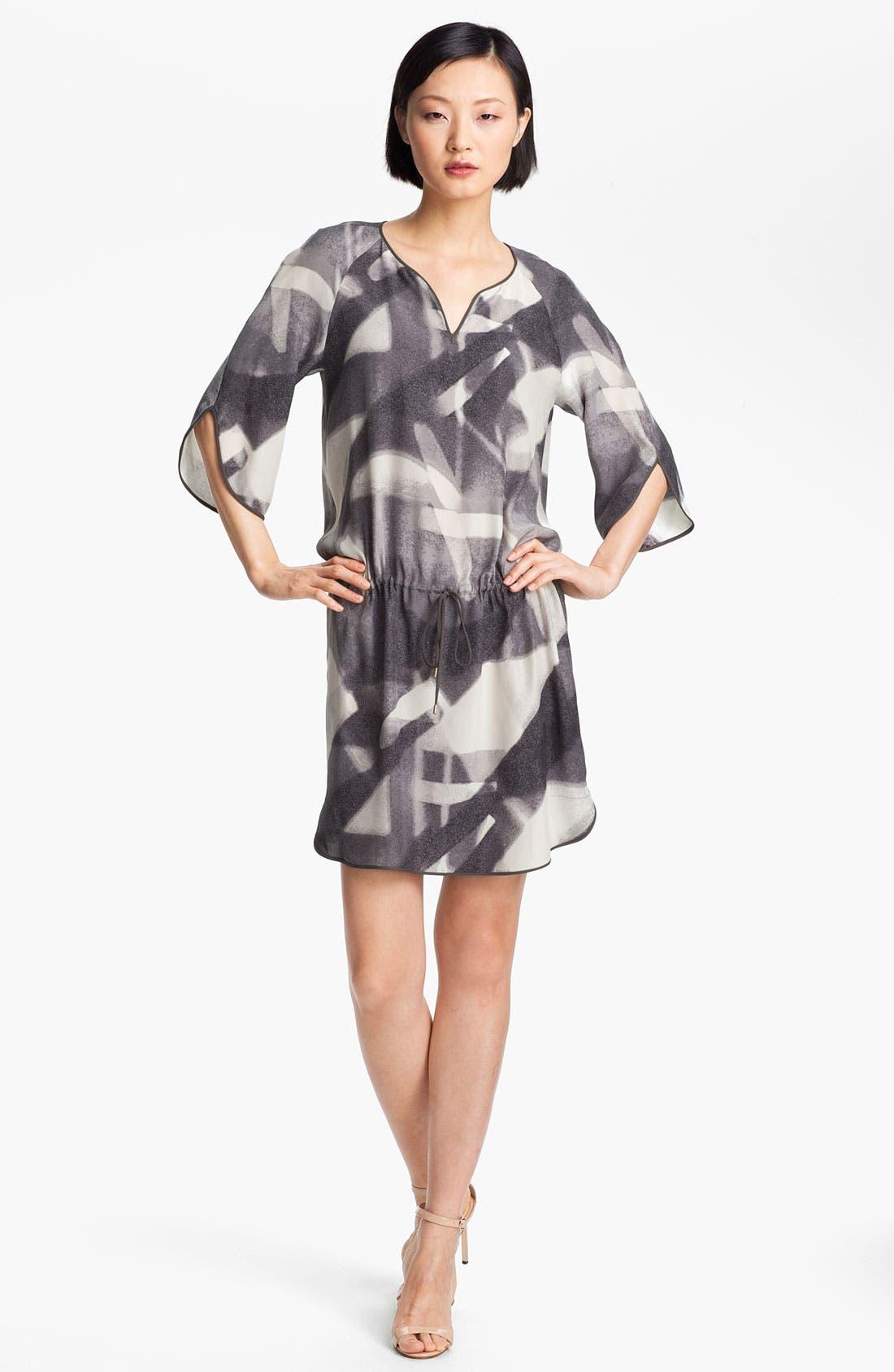 Main Image - Halston Heritage Print Silk Tunic Dress