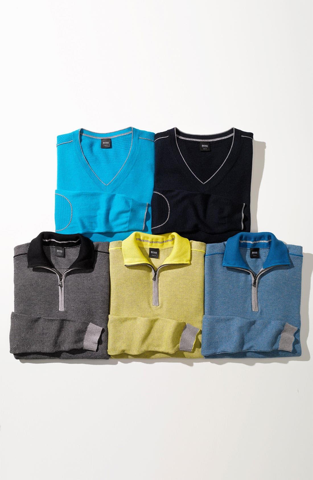Alternate Image 2  - BOSS Black 'Gorius' Quarter Zip Sweater