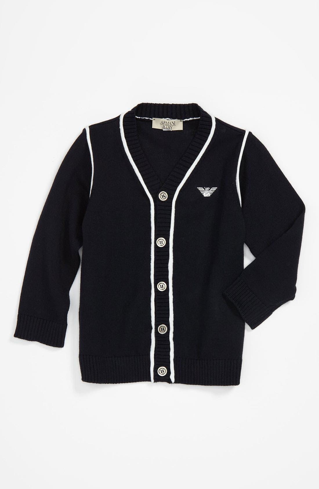Alternate Image 1 Selected - Armani Junior Cardigan (Infant)