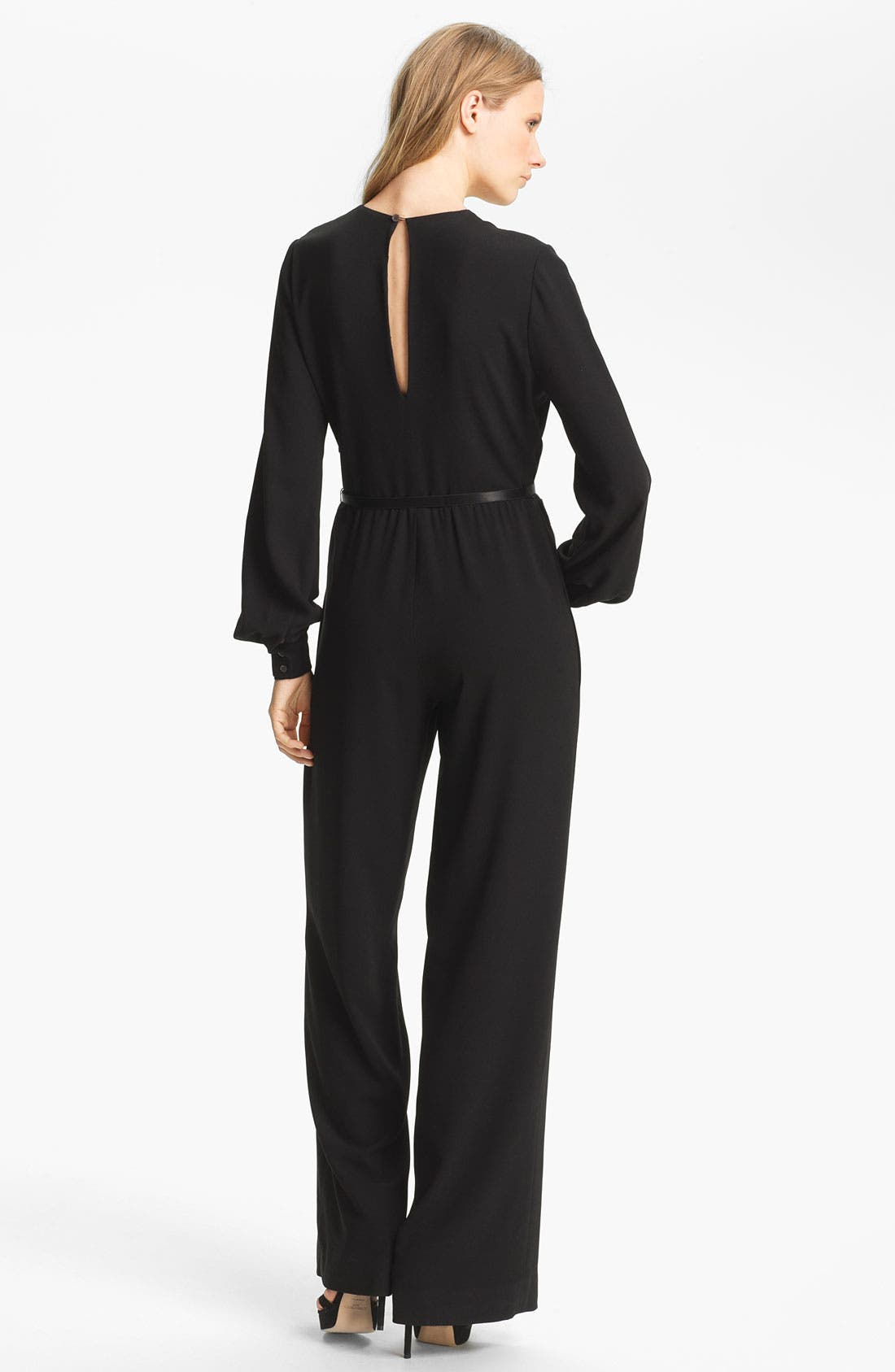 Alternate Image 2  - Haute Hippie Belted Silk Jumpsuit