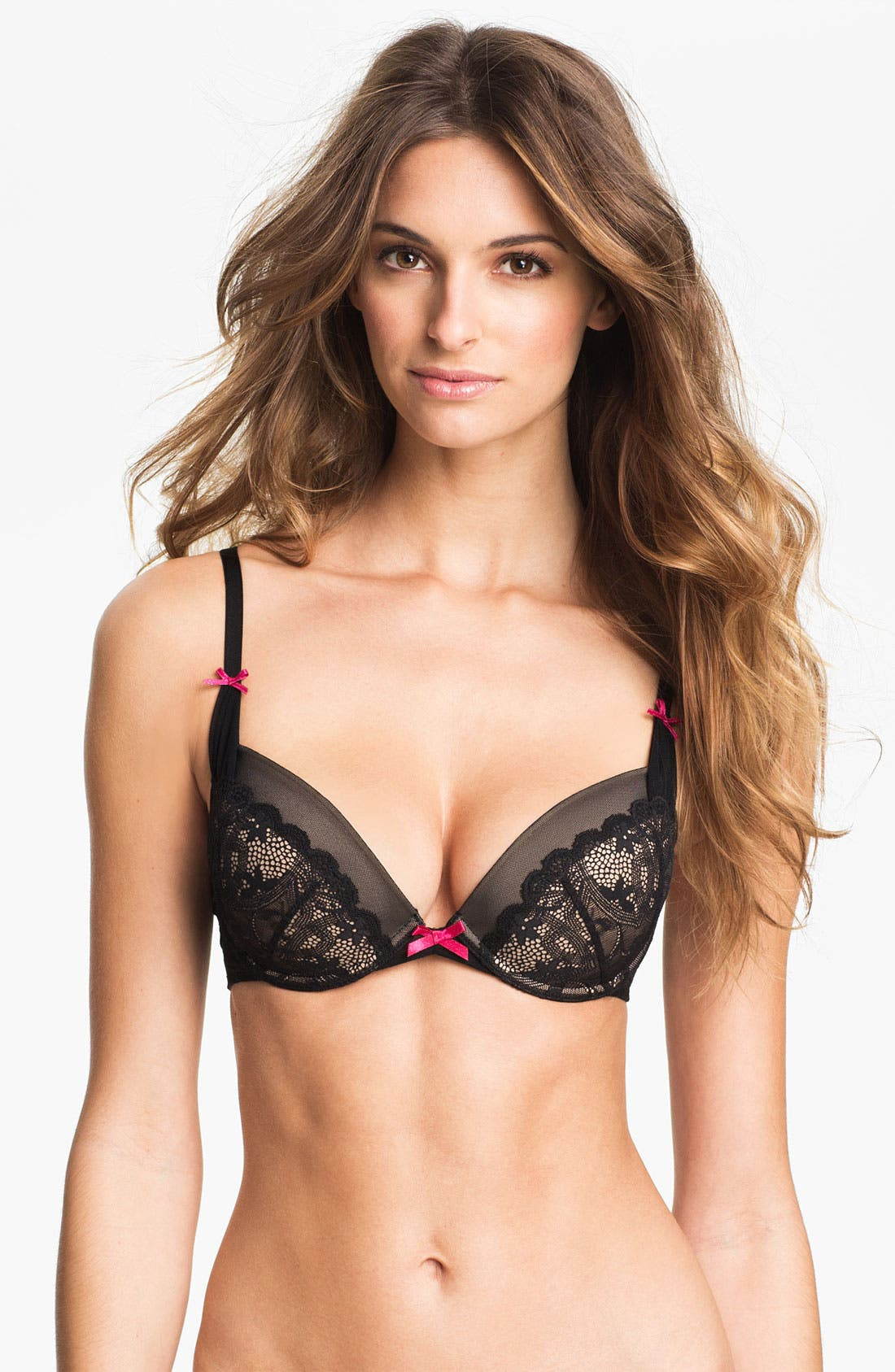 Alternate Image 1 Selected - Betsey Johnson 'Heart & Lace' Underwire Plunge Bra