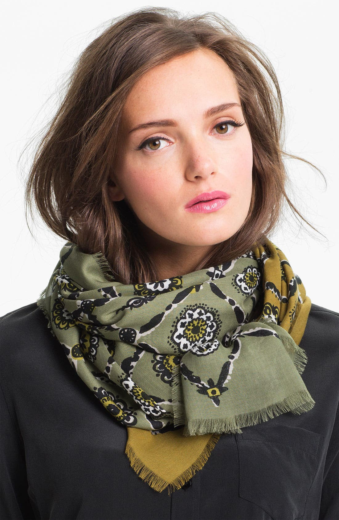 Main Image - Burberry Floral Tile Print Scarf